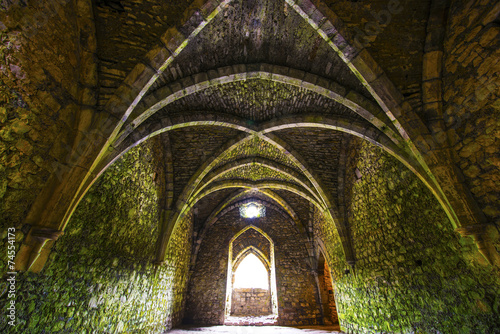 Foto op Aluminium Rudnes Ancient medieval room with arches