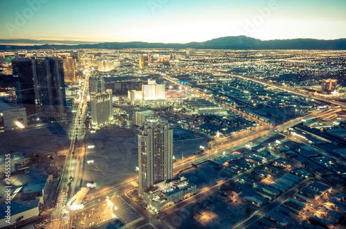 Foto auf Gartenposter Las Vegas Las Vegas cityscape
