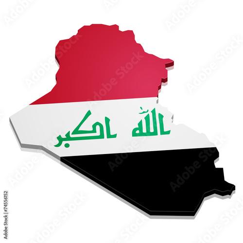 Fotografering  Map Iraq
