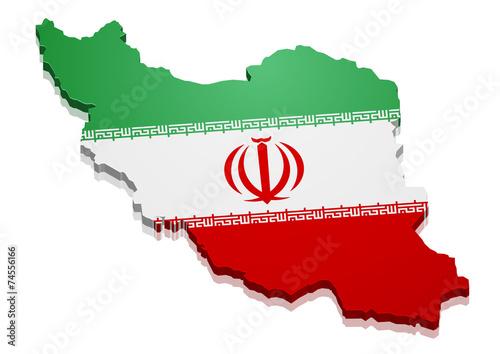 Fotografie, Obraz  Map Iran