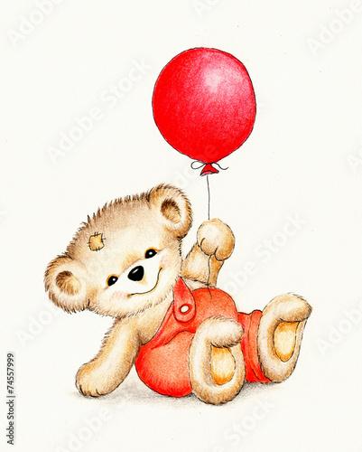 Słodki Miś z balonem