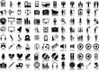 Set of 96 vector icons of business, media and medical
