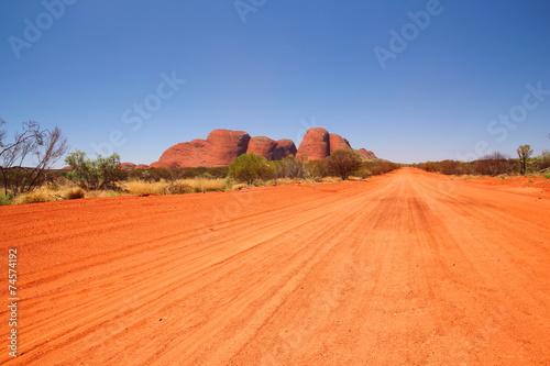 In de dag Australië Kata Tjuta in Australian outback