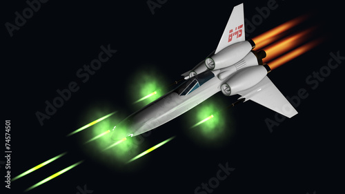 starfighter shooting his four guns Wallpaper Mural