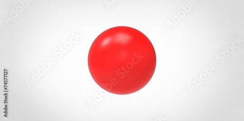 In de dag Bol Red glossy ball sphere isolated on white background