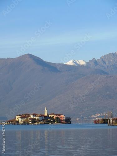Photo  Im Winter - Carciano - Blick auf Isola Pescatori