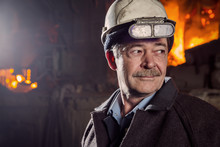 Worker Of A Metallurgical Factory
