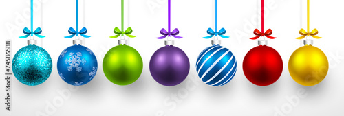 Canvas-taulu Christmas balls