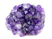 Beautiful Natural Purple Amethyst Geode Crystals Gemstone Isolat