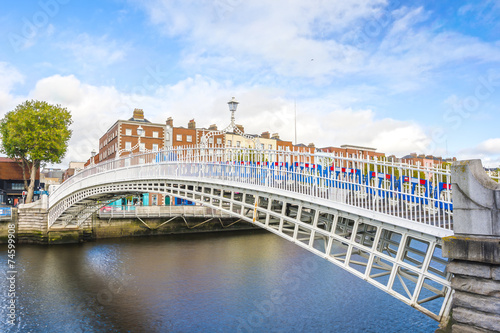 Photo  Ha penny Bridge in Dublin