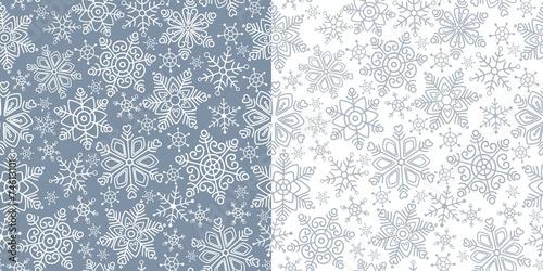 Stoffe zum Nähen Nahtlose Muster mit Schneeflocken