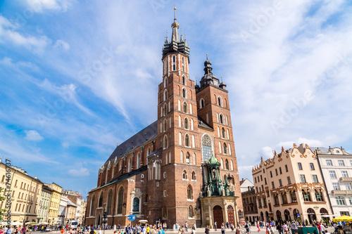 mata magnetyczna St. Mary's Church in Krakow