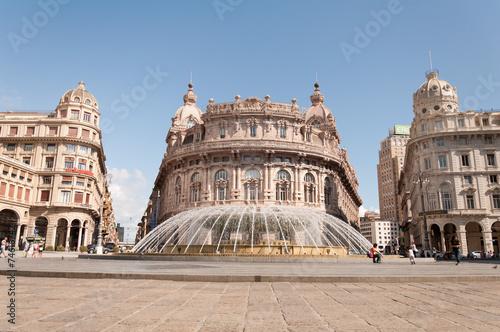Fotografia  Detail of city of Genoa in Italy