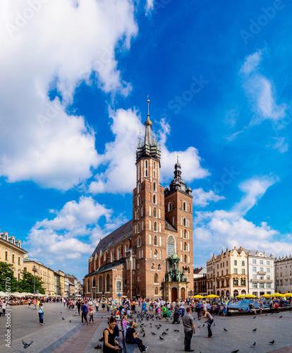 Fototapeta St. Mary's Church in a historical part of Krakow obraz