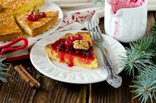 Breton Cake With Cranberry Jam