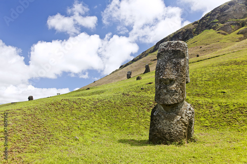 Foto op Aluminium Rudnes Rapa Nui National Park on Easter Island