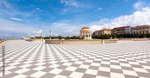 Terrazza Mascagni, Livorno, Toscana - Buy this stock photo and ...