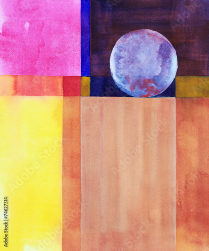 Photo  a minimalist abstract watercolor painting