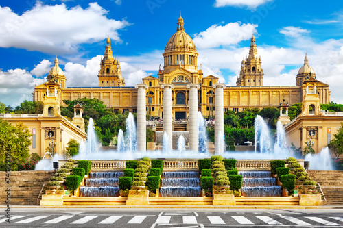 Foto National Museum in Barcelona,Placa De Espanya,Spain.