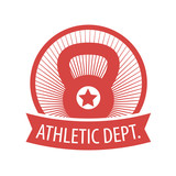 Athletic Dept. emblem in circle vector illustration, eps10