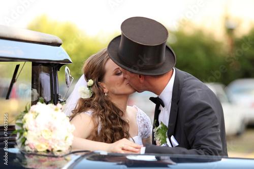 Młoda para, ślub, wesele.