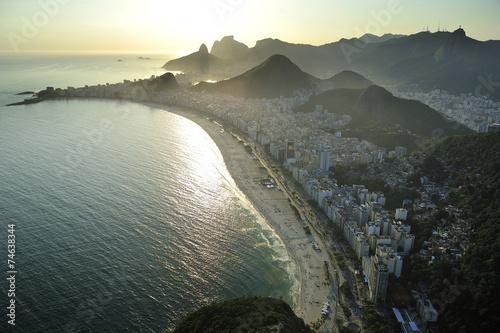 Fotografie, Obraz  Aerial view of Copacabana Beach, Rio de Janeiro, Brazil