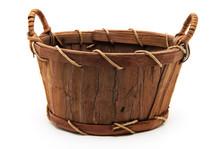 Wooden Wattled Basket
