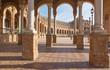 Seville - The portico of Plaza de Espana square