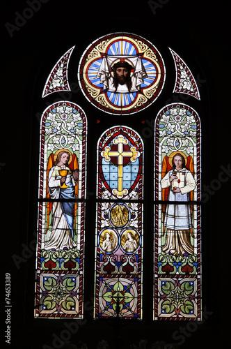 Staande foto Stained evangelische Kirche Bornstedt