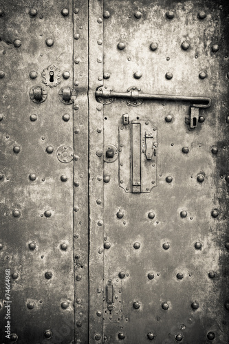 Fotografie, Obraz  Old iron door - security and protection concept