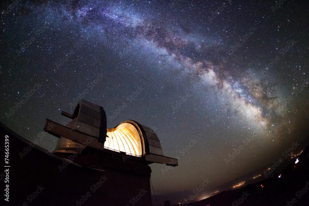 Fototapety, obrazy: Astronomical observatory under the stars