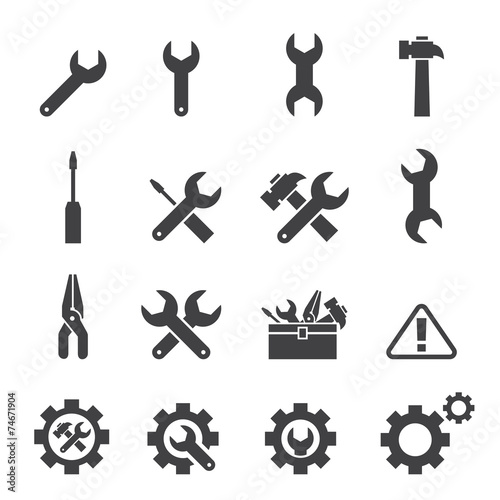 tool icon set Canvas-taulu
