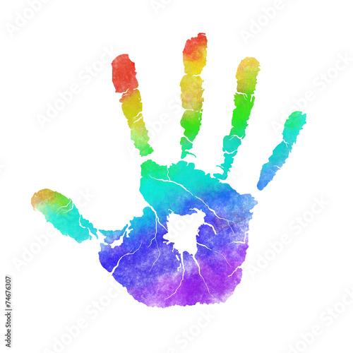 Fotografie, Obraz  Handprint