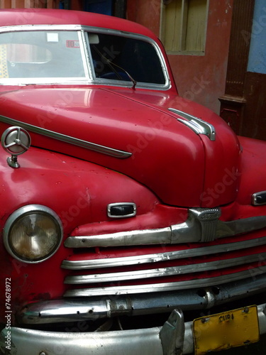 Spoed Fotobehang Centraal-Amerika Landen Voiture Cuba