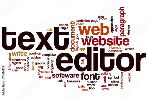 Fotografía  Text editor word cloud