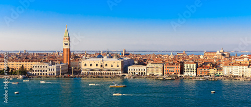 Poster Venice Panorama Piazza San Marco in Venice, view from the top