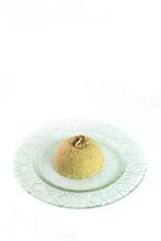 Traditional Turkish Semolina Sweet Desert Halva With Nuts