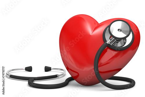 Fotografía  cuore con stetoscopio 2