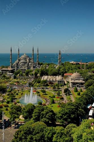 Printed kitchen splashbacks Turkey Blue Mosque Istanbul-Sultanahmet