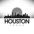 Houston Texas USA Skyline Silhouette Black vector