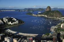 Aerial View Of Sugarloaf And Guanabara Bay, Rio De Janeiro