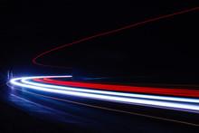 Light Tralight Trails In Tunne...