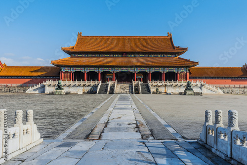 Photo Stands Taihemen Gate Of Supreme Harmony Imperial Palace Forbidden City