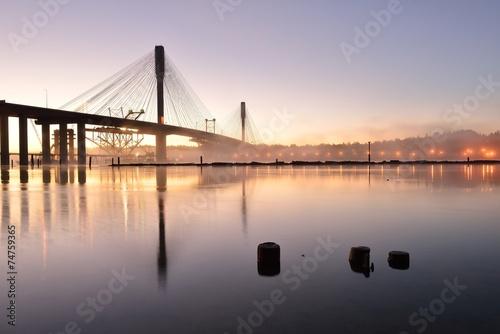 Canvas Prints Bridge The New Port Mann Bridge at sunrise