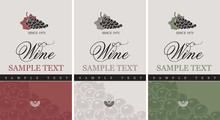 Set Of Vector Labels For Wine ...