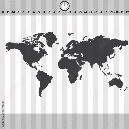 strefa-czasowa-mapa-swiata-z-zegarem-i-paskami-eps10