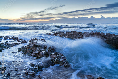Photo  Denia Alicante Las rotas rocky beach in Spain