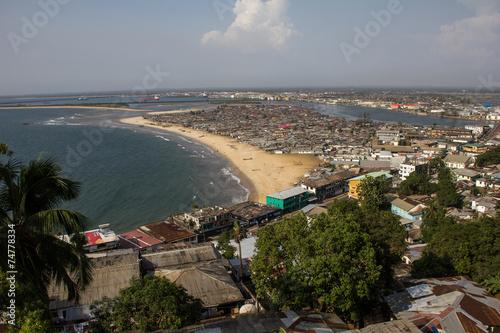 Türaufkleber Afrika Monrovia Liberia