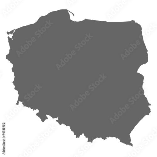Fototapeta Polen in Grau obraz