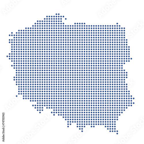 Fototapeta Polen - blaue Punkte obraz